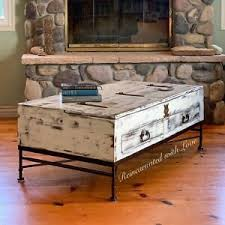 reclaimed wood coffee table white
