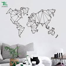 Abstract Map World Geography Wall Stickers Living Room Bedroom Removable Wall Decals Vinyl Mural Earth Sticker 5 Jpg Road Less Travelled