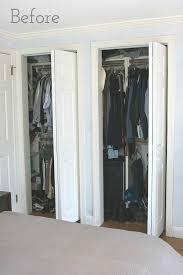 bi fold closet doors with curtains