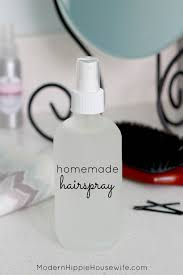 homemade hairspray with essential oils