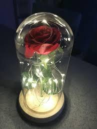enchanted rose flower lamp beautiful
