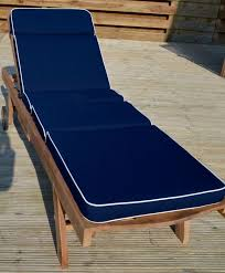 navy sun lounger cushion and outdoor