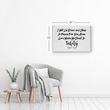 I Will Lie Down And Sleep In Peace For You Psalms 4 8 Bible Verse Scri Smile Art Design