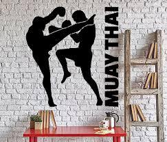 Wall Vinyl Decal Martial Arts Mma Tough Sport Fighters Home Interior Decor Unique Gift Z4330 Vinyl Wall Decals Interior Decorating Pictures Wall Decals