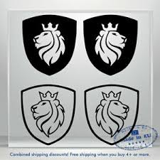 Coat Of Arms Vinyl Decal Sticker Lion Crown Auto Car Bumper Window Decals Truck Ebay
