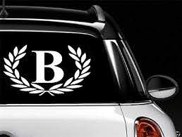 Amazon Com Car Decal Letter B Large Size Decorative Monogram 9 X 10 Bumper Sticker For Windows Trucks Cars Laptops Glasses Mugs Mailboxes Etc Home Kitchen