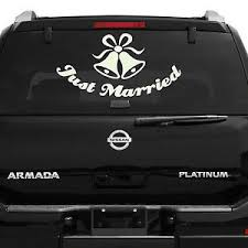 Just Married Wall Or Car Vinyl Decal Sticker Infinity Love Quote Wedding Couple Ebay