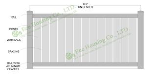 White Vinyl Semi Privacy Fence Vinyl Pool Fencing Vinyl Garden Fence Panels Panel Foam Panel Mount Power Connectorspanel Lifter Aliexpress
