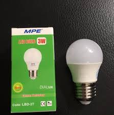 MPE bóng đèn led tròn 3W đạt chuẩn Châu Âu