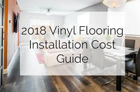 2018 vinyl flooring installation cost