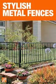 10 Best Metal Garden Fencing Images In 2020 Metal Garden Fencing Porch Railing House Exterior