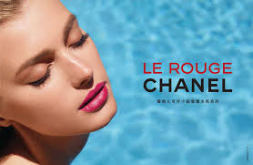 sigrid agren for chanel le rouge make