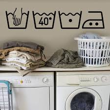 Laundry Room Wall Sticker Removable Art Vinyl Mural Home Room Decor Wallpaper Sign On The Wall For Washing Machine Hot Sale Jw Wall Stickers Aliexpress