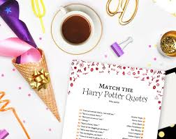 match the harry potter quotes party game geeksanddragons