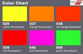 5 Sheets Fluorescent Adhesive Vinyl 10 X 8 25 X Etsy