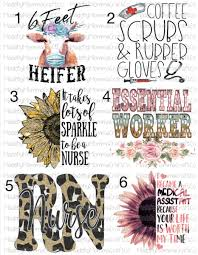 Essential Workers Medical Assistant Cna Rn Nurse Waterslide Decals L Made By Momma Waterslides