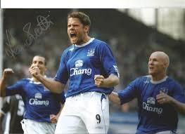 James Beattie Everton Signed 12 x 8 inch football photo. Sup