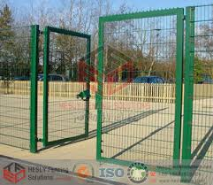 Wire Mesh Fence Gate Welded Mesh Fence Gate Anping China Hesly Wire Mesh Fencing Factory Www Heslyfence Com