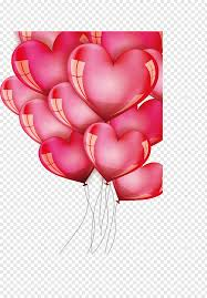 red heart balloons png