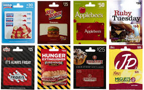 gift cards applebees