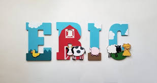Barnyard Animals Letters For Kids Farm Themed Room Decor Etsy