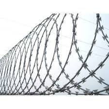 Coated Galvanized Iron Concertina Wire Fence System Rs 70 Kilogram Id 20933108288