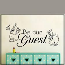 Best Promo 7835 Be Our Guest Wall Decal Home Art Decal Waterproof Vinyl Wall Decor Stickers Boy Girl Room Decor Mural G527 Cicig Co