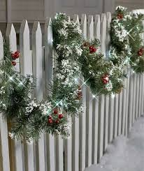 9 Ft Lighted Garland Porch Patio Fence Indoor Outdoor Christmas Holiday Decor For Sale Online