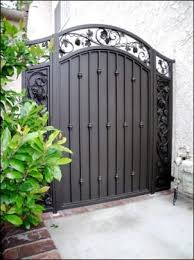 Home Metal Fence Gate Simple On Home Intended Gates And Fences Iron Accessories Summit 25 Metal Fence Gate Brilliant On Home Intended For Gates Fencing The Depot 0 Metal Fence Gate Innovative