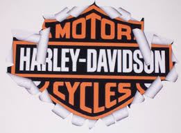 Harley Davidson Logo Ripping Threw Metal Full Color Graphic Window Decal Sticker