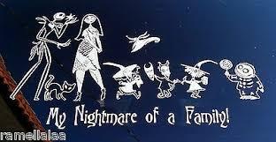 Family Set Nightmare Before Christmas Car Decal Sally Jack Skellington Sticker 6 85 Picclick Uk