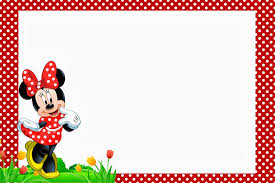 Minnie In Red Free Printables And Party Invitations Tarjeta De