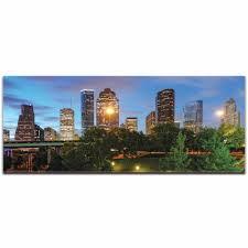 Metal Art Studio Houston City Skyline Urban Modern Art Cityscape Wall Artwork L0270
