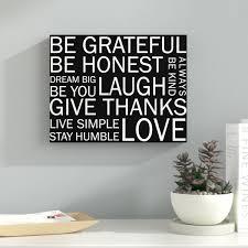 Inspirational Wall Art Sayings Wayfair