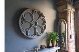round rose gothic church mirror rustic