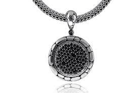 john hardy kali black sapphire pendant
