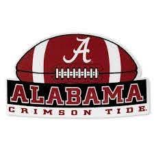 Alabama Crimson Tide Football Vinyl Decal University Of Alabama Supply Store