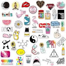 Amazon Com Cute Water Bottle Sticker Aesthetic Laptop Sticker 43 Pcs Waterproof Girl Vinyl Decal Sticker For Phone Travel Computer Hydro Flasks Car Bicycles Luggage Arts Crafts Sewing