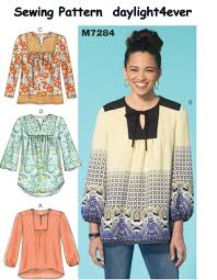 sewing pattern m7284 loose ing