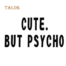 Tmc But Psycho Funny Letters Car Vehicle Reflective Decals Sticker Decoration Buy At A Low Prices On Joom E Commerce Platform