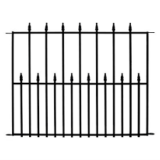 No Dig 2 41 Ft X 3 14 Ft Empire Powder Coated Steel Fence Base Unit Metal Fence Panels Steel Fence Panels Steel Fence