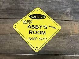 Warning Kids Room Bedroom Door Sign Funny Kids Gag Gifts Ebay