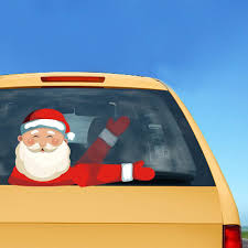 Car Wiper Christmas Decal Stickers Milky Spoon