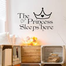 The Princess Sleeps Here Wall Sticker For Baby Girl Bedroom Decor Background Home Decoration Stickers Art Decals Wallpaper Decorative Wall Art Stickers Decorative Wall Clings From Hongheyu 33 45 Dhgate Com
