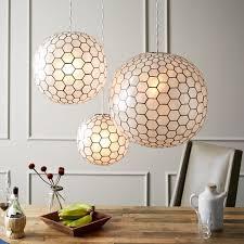 capiz orb pendant lights