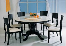 attractive round granite dining table