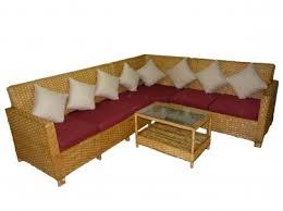 nature cane corner type sofa set 6