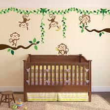 Monkey Jungle Tree Vine Forest Wall Decal Safari Birds Sticker Set 3018 Innovativestencils