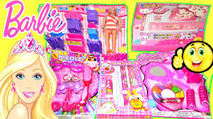 barbie doll makeup toy gift set and