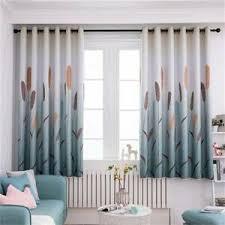 Kids Bedroom Reed Pattern Short Curtain Window Blackout Curtains Drapes Mp Ebay